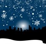 Winter city — Stock Vector