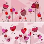 Floral love design — Stock Vector