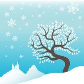 Winter background — Stock Vector