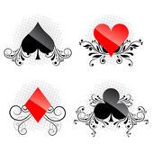 Decorative card symbols — Stockvector