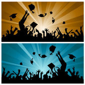 Graduation party — Stock Vector