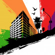 Rainbow city — Stock Vector