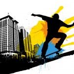 Skateboarding silhouette — Stock Vector