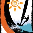 Stock Vector: Surfing silhouette