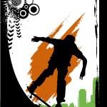 Skateboarding silhouette — Stock Vector #10660771
