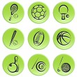 Sport items icon set — Stock Vector