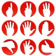 Stock Vector: Hand icons