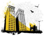 Grunge city — Stock vektor