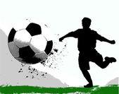 サッカーのシルエット — ストックベクタ
