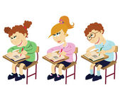 Cartoon students — Stock Vector
