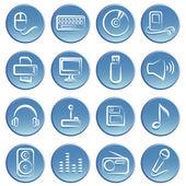 Electronic item icon — Stock Vector
