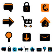 Web site icon set — Stock Vector