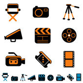 Video and photo icon — Stock Vector