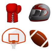 Sport accessories vector — ストックベクタ