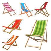 Plaj sandalyesi — Stok Vektör