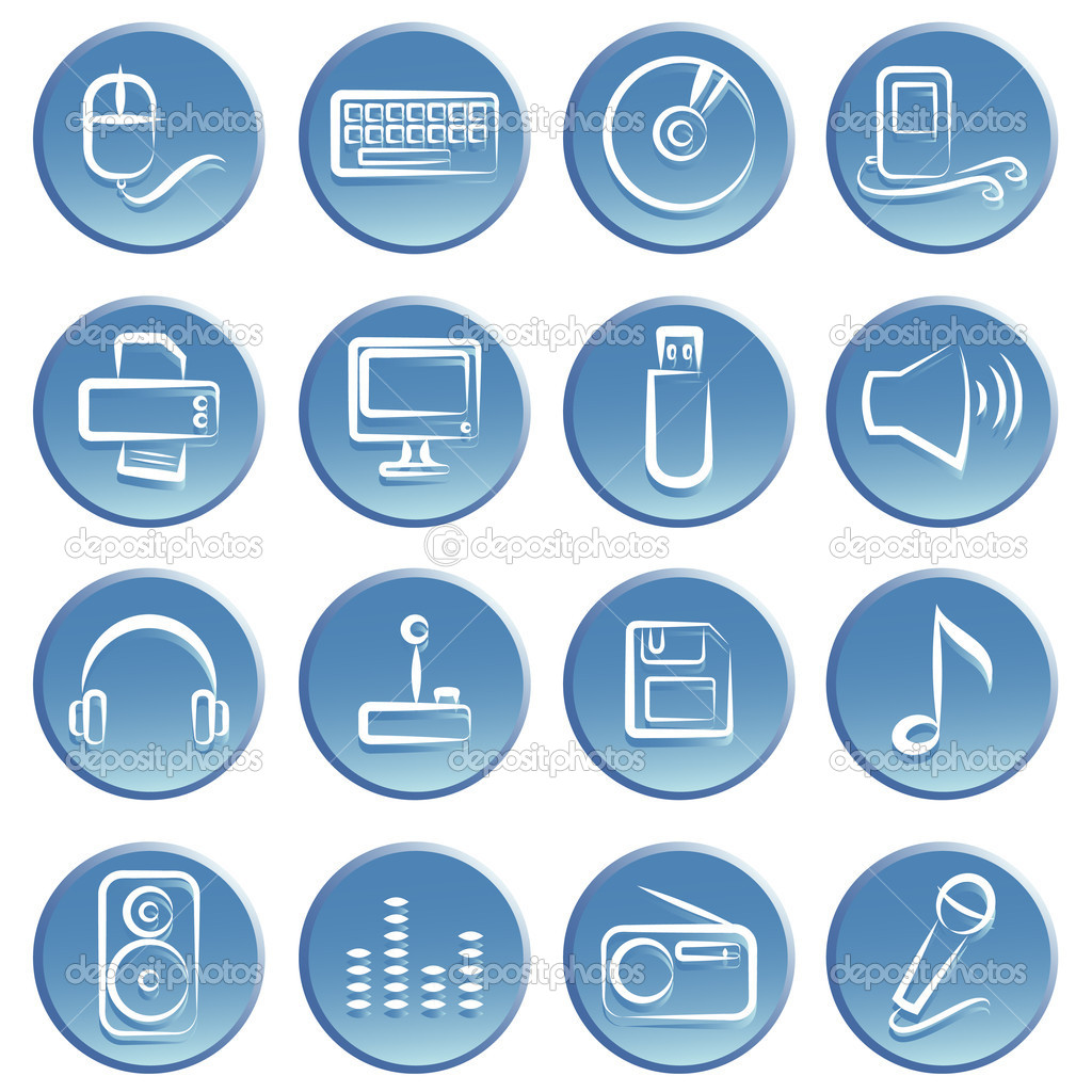 Electronic item icon set — Stock Vector #10660857