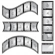 Stock Vector: Film strip set