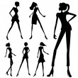Vector de stock : Fashion woman