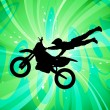 Motocross silhouette — Stock Vector
