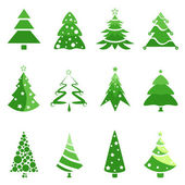 Pine tree set — Stock Vector