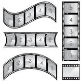 Film strip set — Stock Vector