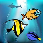 Grafika ryb — Stock vektor