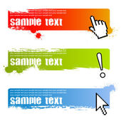 Grunge banners with cursors — Stock Vector