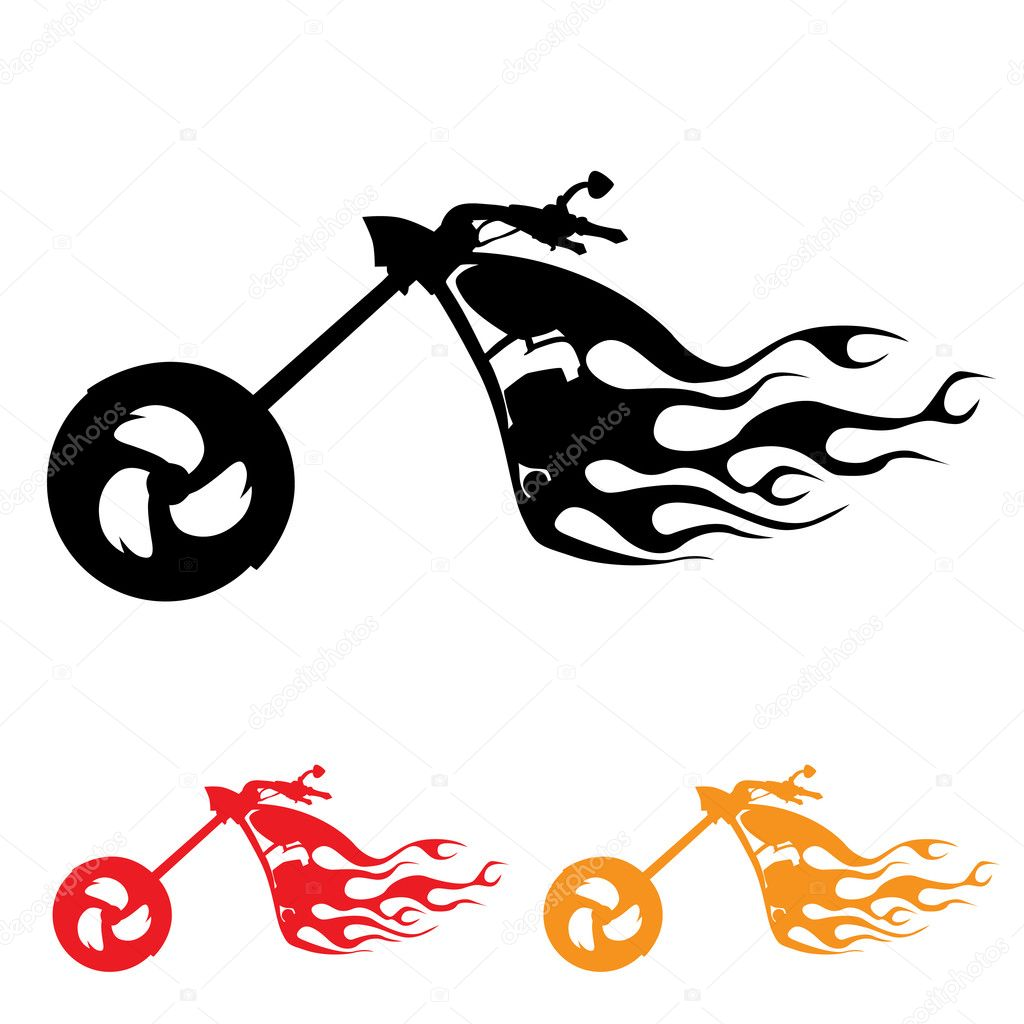 Chopper Motorbike Drawing Abstract Chopper Motorcycle