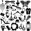 Women accessories — Stock Vector