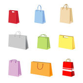Shopping package vector — Vector de stock