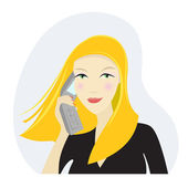 Business woman on the phone — Stock Vector