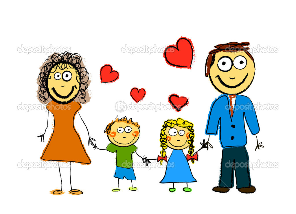 Cute Family vector — Stock Vector #8115434
