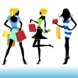 Stock Vector: Shopping girl illustration