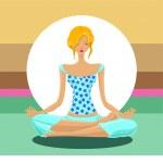 Yoga concept — Stock Vector #8252334