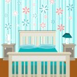Stock Vector: Cute bedroom
