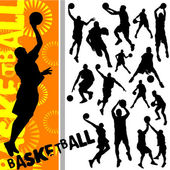 Basketball set — Stock Vector