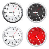 Wall clock set — Stock Vector