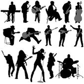 Musician set — Stock Vector
