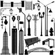 City objects great set — Stock Vector #8318290