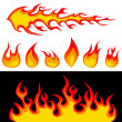 Fire graphic elements - Stock Vector