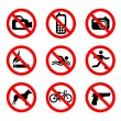 Prohibit sign set — Stock Vector