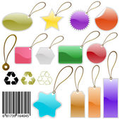Vector tags great set — Stock Vector