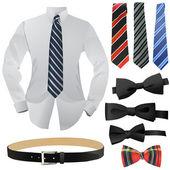 Set of business fashion — Stockvektor