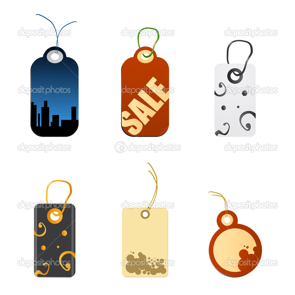 Tag  set vector  — Stock Vector #8318311