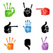 Hand icons — Stock Vector