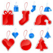 Christmas tag set — Stock Vector