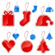 Christmas tag set — Stock Vector #8486551