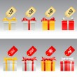 Royalty-Free Stock Imagem Vetorial: Gift box set