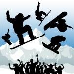 Snowboard silhouette — Stock Vector #8486649