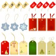 Shopping label christmas style — Stock Vector